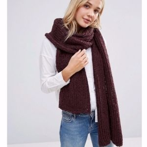 NEW Free People Oversized Chunky Knitted Scarf